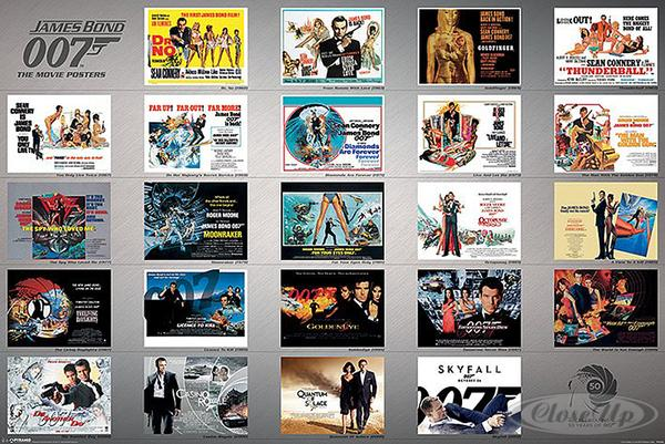 james bond 007 poster collector 39 s edition weihnachten ebay. Black Bedroom Furniture Sets. Home Design Ideas
