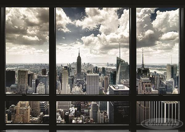 New-York-Poster-Skyline-Fenster-Manhattan-Skyline-1-gratis-U-Poster