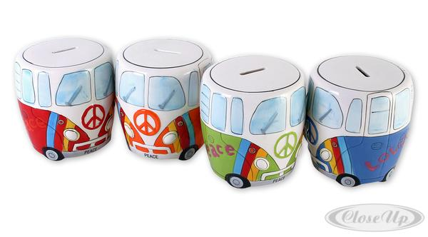 camper bus spardose hippie weihnachten ebay. Black Bedroom Furniture Sets. Home Design Ideas