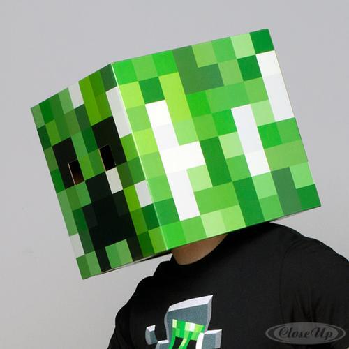 minecraft maske creeper kopf aus karton ebay