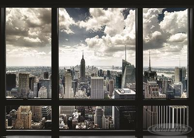 New York Poster Skyline Fenster
