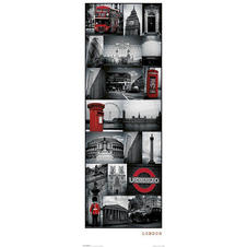 London Collage Poster