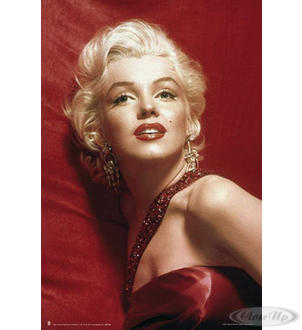 Marilyn Monroe in Red Poster