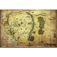 The Hobbit Poster Map of Middle Earth