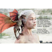 Game Of Thrones Poster Daenerys Fire & Blood