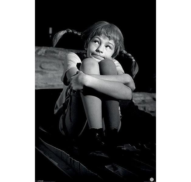 pippi langstrumpf poster schwarzweiss poster gro format jetzt im shop bestellen close up gmbh. Black Bedroom Furniture Sets. Home Design Ideas