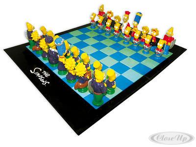 The Simpsons Schachspiel