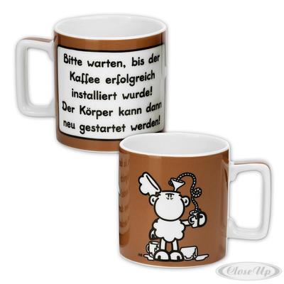 Sheepworld Wortheld Tasse Kaffee erfolgreich installiert
