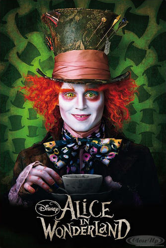 Alice im Wunderland Poster Hutmacher (Johnny Depp)