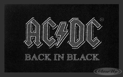 AC/DC Fußmatte Back in Black | Heimtextilien > Fussmatten | Black