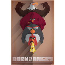 Angry Birds Poster Born to be