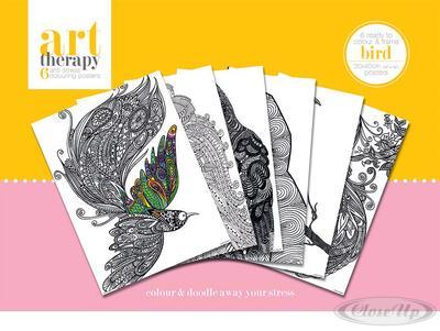 Art Therapy Vögel Poster zum Ausmalen (6 Ausmal...