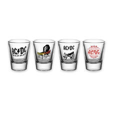 "AC/DC ""4 Albums"" 4pc Shot Glass Set"