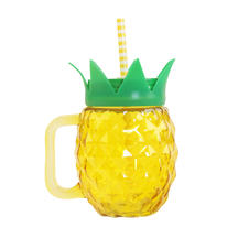 Pineapple drinking jug with handle