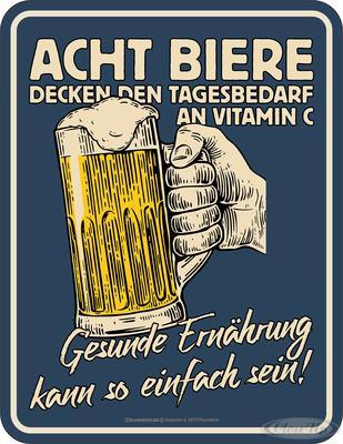 Acht Biere Blechschild