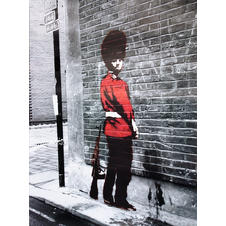 Banksy Poster, Queens Guard