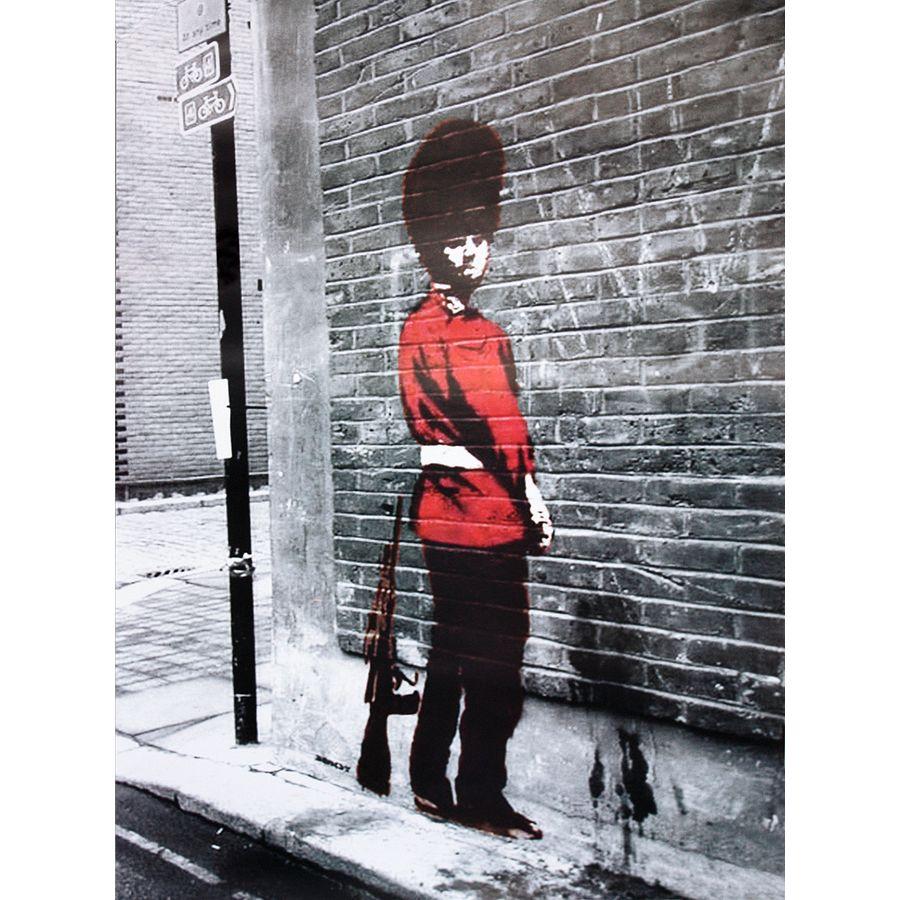 banksy poster queens guard poster kleinformat jetzt im. Black Bedroom Furniture Sets. Home Design Ideas