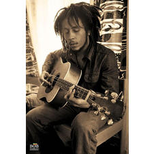 Bob Marley Poster with guitar