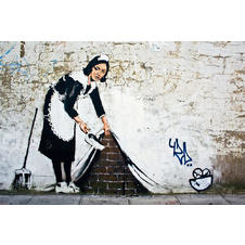Banksy Poster Cleaning Maid