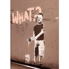 Banksy Poster What? Graffity