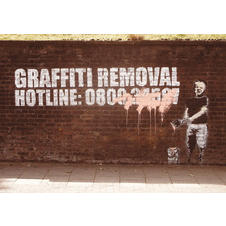 Banksy Poster Graffity Removal