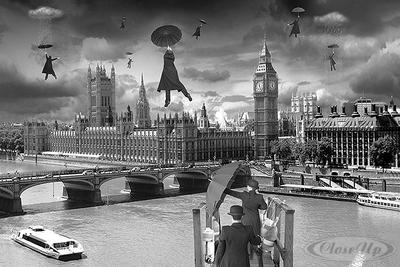 Blown Away Poster London Houses of Parliament