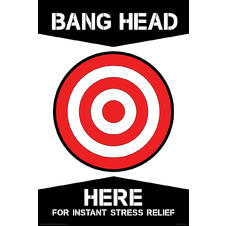 Bang Head Here Poster