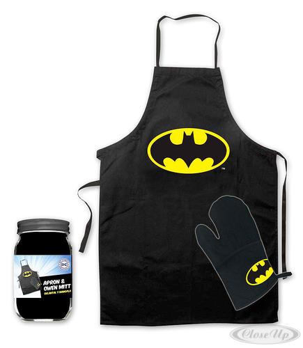 Batman Grillschürze und Ofenhandschuh Logo - für die Küche