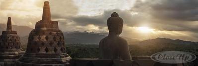 Buddha Poster Borobudur Tempel Java