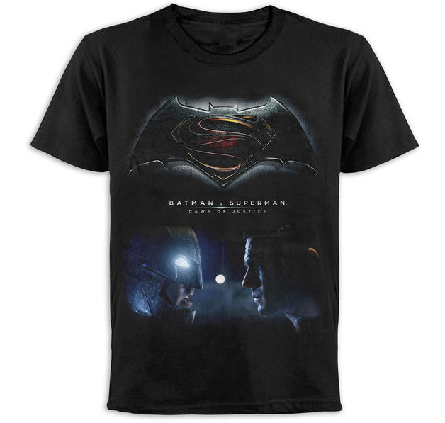 New batman vs superman t shirt faces on close up for Make your own superman shirt