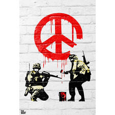 Banksy Poster Peace Soldiers