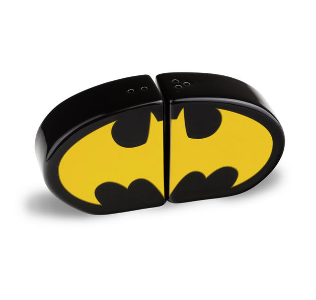 batman salz pfefferstreuer logo aus keramik. Black Bedroom Furniture Sets. Home Design Ideas