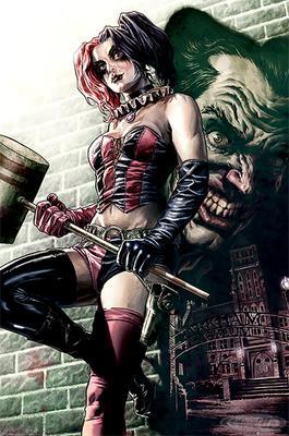 Batman Poster Comic Harley Quinn Pose