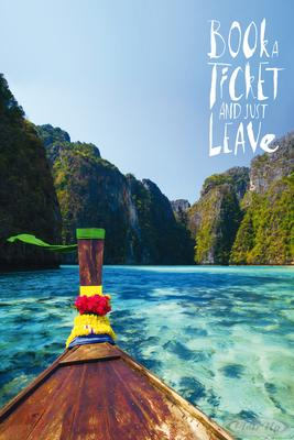 Book A Ticket And Just Leave Poster Janette