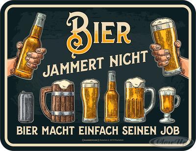 Bier Jammert Nicht Blechschild