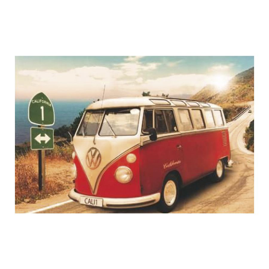 california camper vw bus poster poster gro format jetzt. Black Bedroom Furniture Sets. Home Design Ideas