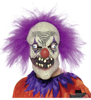 Clown Maske Evil Purple
