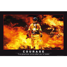 Courage Poster Firefighter