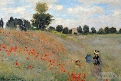 Claude Monet Poster Mohnfeld bei Argenteuil