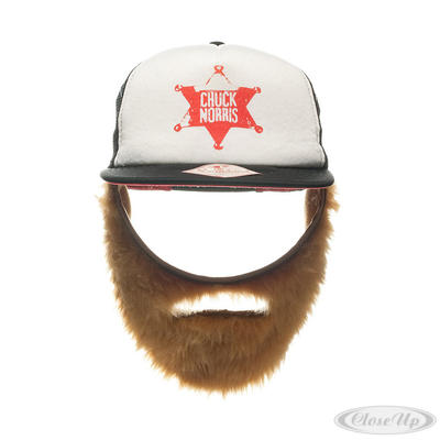 Chuck Norris Foam Trucker Cap mit Bart