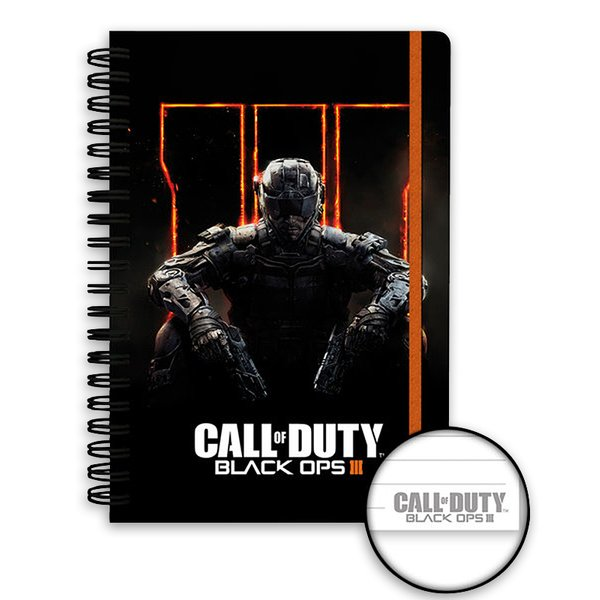 call of duty black ops 3 notizbuch din a5 mit spiralbindung. Black Bedroom Furniture Sets. Home Design Ideas