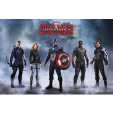 "Marvel Captain America - Civil War ""Captain America Team"" Poster"