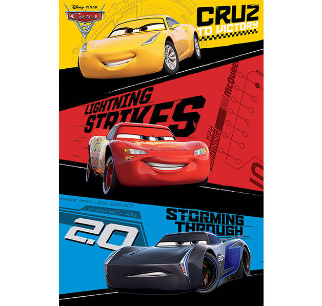 Cars 3 Poster Trio
