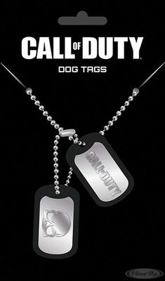 Call of Duty Dog Tag Logo & Skull - broschei