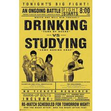 Drinking vs. Studying Poster