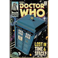 Doctor Who Poster Tardis Comic
