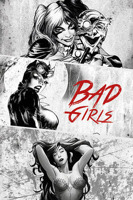 DC Comics Poster Bad Girls Black & White