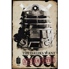 Doctor Who Poster - The Daleks Want You/