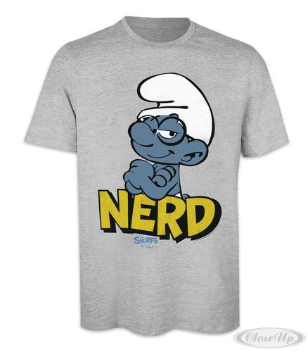 Die Schlümpfe T-Shirt Nerd (Schlaubi) Gr. XXL - T-Shirts