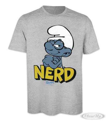 Die Schlümpfe T-Shirt Nerd (Schlaubi) Gr. S - T-Shirts
